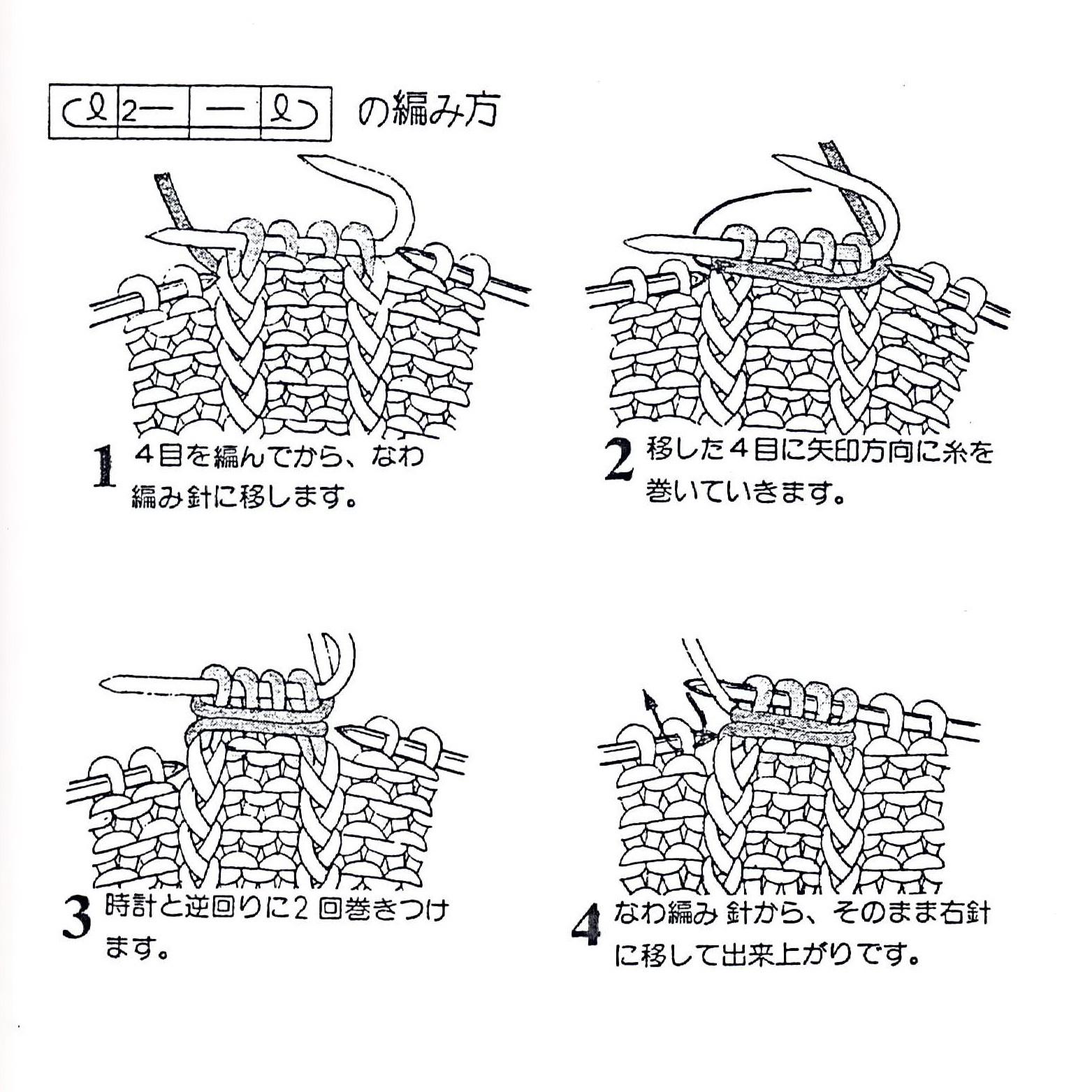 Условные обозначения на японских схемах узоров вязание спицами