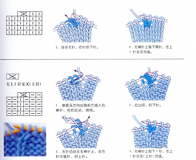Вязание спицами петли с протяжками 741